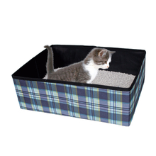 Outdoor Use Durable Polyester Foldable Litter Box for Cats