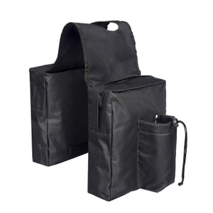 Black Tactical UTV Saddle Bag with Side Pocket