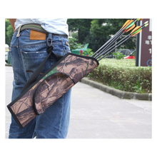 Archery Arrow Bag Field Quiver Waist Arrows Bag with Belt Hanged for Target Hunting Shooting
