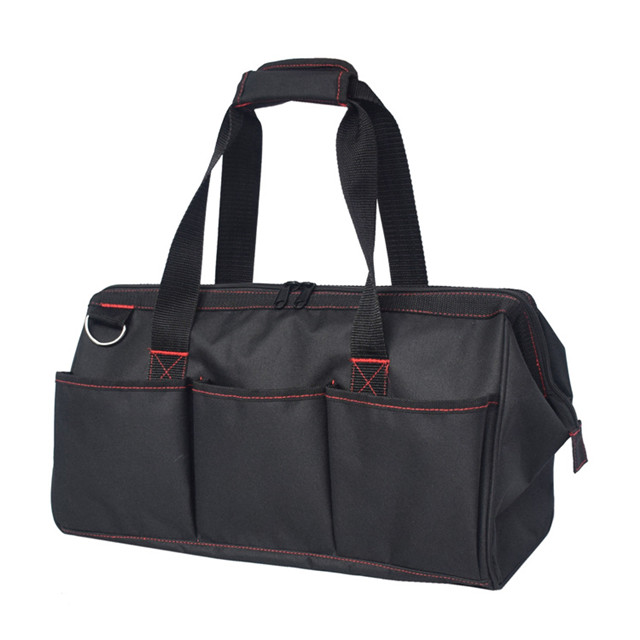 18-inch Close Top Wide Mouth Storage Tool Bag with Adjustable Shoulder Strap