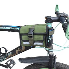 Dual Pocket Bike Bag Top Tube Front Bag Outdoor Bicycle Storage Bag