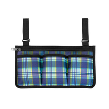 New Color Large Capacity Multi-pocket Plaid Hand Free Wheelchair Side Storage Bag