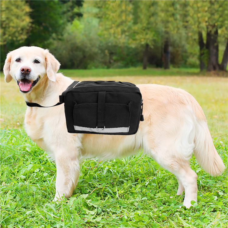 Outdoor Lightweight Portable Adjustable Canvas Reflective Dog Pack Hound Backpack Saddle Bag Travel Pack