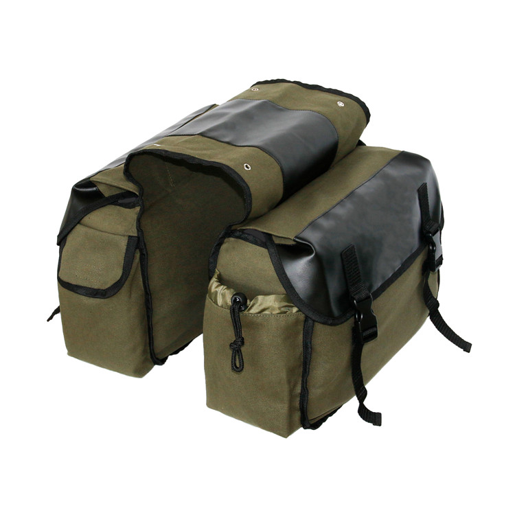 Large Capacity Upgraded Durable Canvas Bike Bicycle Rear Rack Pannier Trunk Saddle Bag with Multi Pockets
