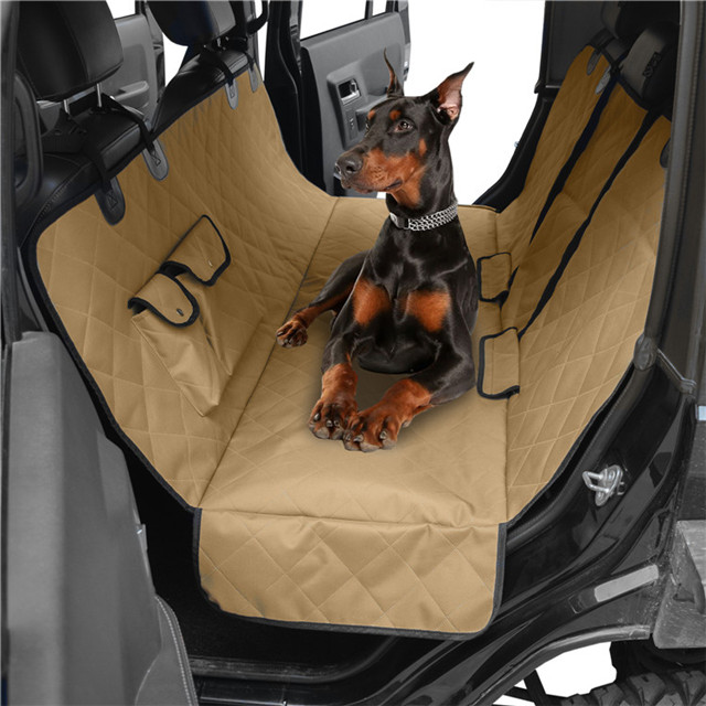 Waterproof Dog Car Seat Cover with 2 Pockets And Zippers