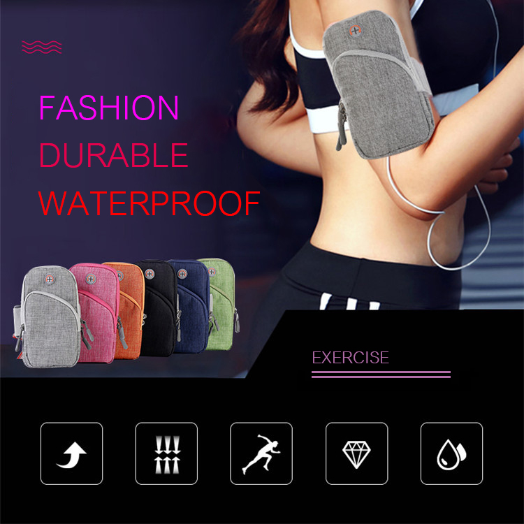 Waterproof Running Breathable Cellphone Arm Bag with Headset