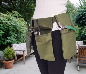 Waterproof Canvas Heavy Duty Garden Waist Tool Belt with 4 pouches