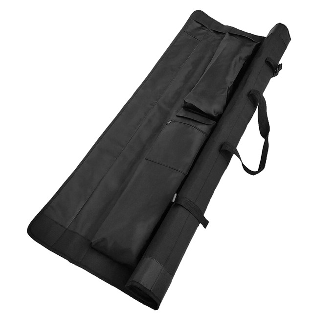 Waterproof Portable Fishing Rod Pole Roll bag with 4 Rods Bags