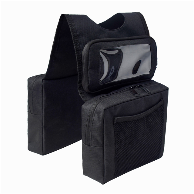 ATV UTV Motorcycle Rear Cargo Pocket Fuel Tank Storage Saddle Bag Case with Phone Bag